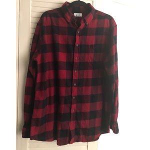 Mens rad & black flannel